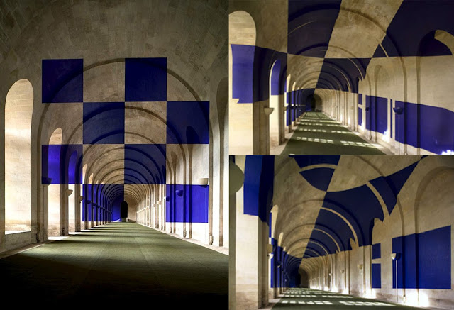 Felice Varini- Pixel art 1