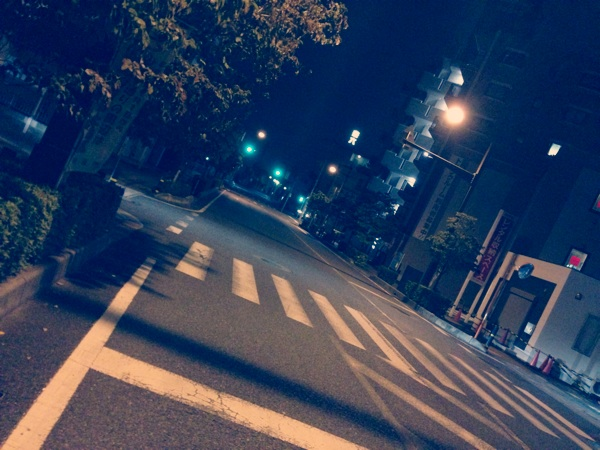 夜の散歩はかなりイイ感じ!夜に...