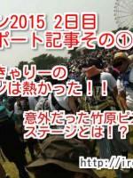 ロッキンジャパンin2015!ヤバ過ぎた2日目参戦レポート!きゃりーや竹原ピストルが熱過ぎた件